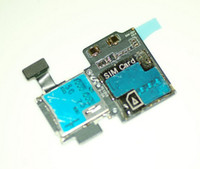 Wholesale For Galaxy S4 i337 SIM Card Holder Slot and SD Card Reader Contact Flex Cable