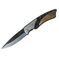 3.3 inch ceramic blade knife - 2pcs Chemitrek Ceramic Folding Knife Pocket Knife inch White Ceramic Blade Wooden Inlaid SUS Handle Liner Lock