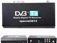 other other  Mobile Digital Car DVB-T2 H.264 MPEG4 HD 1080P External Auto Tuner 40Km h Digital TV Receiver Box Set Top DVB-T2 Free Shipping