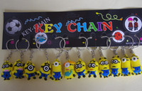 Wholesale Despicable Me Key chain Movie Anime Minion toys Figure Pendants set