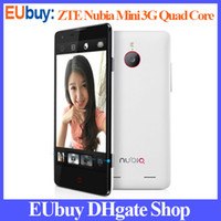 WCDMA English Android 4.2 DHL Free Shipping, ZTE Nubia Z5 mini 1.5GHz APQ8064 Quad Core 4.7-inch HD OGS Android Phone Spainish Google Play Store