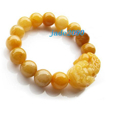 Free Shipping - 100% Natural yellow jade Meditation yoga Prayer Beads charm bracelet