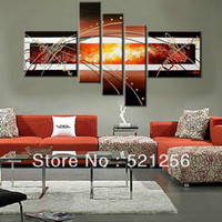Wholesale Handpainted Group Triptych Wall Paintings Home Decorative Panels Modern Abstract Art Paintings for Sale BLA38