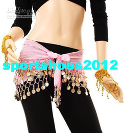 Wholesale Brand NewTop quality Colors Rows Coins Belly Egypt Dance Hip Skirt Scarf Wrap Belt Costume
