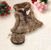 Wholesale Children s Coat Leopard girls coat Leopard coat Winter Warmer coat baby girl leopard coat kid children coat clothing