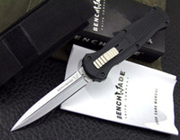 Wholesale Benchmade Infidel OTF Double Action out the front D2 blade aluminum handle with removable deep carry pocket clip camping knife knives