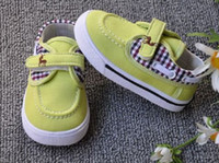 Cheap 10%off 2015 new soft bottom toddler shoes. 0-1 years old, Plaid casual shoes cheap.shoes sale.baby wear china.shoes shop 4pairs 8pcs LX