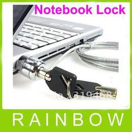 La llave libre de la llave de la cadena del cable de la seguridad del cuaderno de la PC del ordenador portátil de FEDEX 90pcs / lot del precio bajo libera el envío
