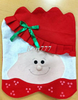 Wholesale Min order is mix order Quality X mas Snowman Chair Cover Christmas Trendy Crafts Lovely Style X mas Gift