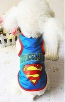 Wholesale The new factory direct summer pet clothes dog clothes puppy sweater vest color mesh Superman