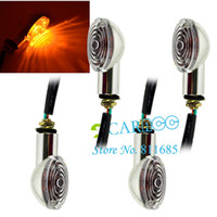 Wholesale 4pcs DC12V Amber Motorcycle Turn Signal Indicator Light Caution Light Bulb hot sale TK_CB178