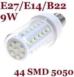 2014 New Arrival 9W Pure Warm White Led Bulbs Corn Light 580 Lumens E27 E14 B22 Led Spotlights With Cover Waterproof 360 Angle 110V 220-240V