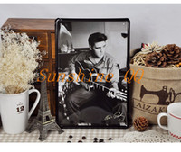 Wholesale 20 Brand New Elvis Presely Metal Painting Tin Sign Wall Decor Iron Plate Music Poster