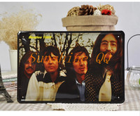 Wholesale 20 cm The Beatles Band Tin Plate Metal Painting Christmas Gift Wall Decor