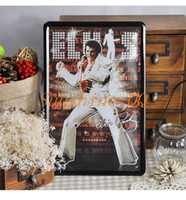 Wholesale 20 cm Metal Painting Elvis Presely Rock Singer Wall Decor Tin Sign