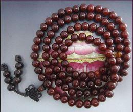 Free Shipping - 10 mm Tibetan Buddhism Real Natural red sandalwood meditation yoga 108 Beads Prayer Mala
