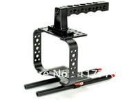 Wholesale NEW camera cage with top handle mounted points DSLR Camera Cage fits mm rods For Video Camera D II III D D D