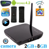 Wholesale TV01 CS968 Android Smart TV BOX RK3188 Quad Core Camera GB RAM GB Microphone Bluetooth Netflix XBMC D Movie Games Media Player NEO A2