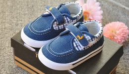 Wholesale 30 off HOT SALE yards blue jeans toddler shoes Velcro shoe repair Sports shoes cheap baby wear china shop pairs LX