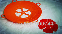 Wholesale Red spill lid large multifunctional silicone heating plate