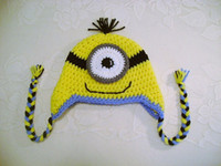 Wholesale Hot Sale New baby hat Infants Crochet OWL Hat Animal Beanie Baby Cartoon Hat Minion Crocheted Hat