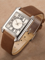 Wholesale Brown Cowhide Teen And Tween s Fashion Watch u10 mAg