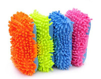 Wholesale Car Care Cleaning Ultrafine fiber car wash sponge chenille anthozoan gloves car wash gloves car wash supplies
