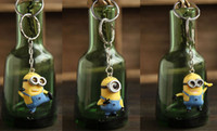 Wholesale Cartoon Despicable Me D Eye Small Minions Figure PVC Toy Kid toy KeyChain set of