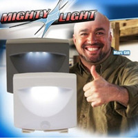 Wholesale NEW Mighty Light Indoor or outdoor White Motion Light Sensor Activated Light led