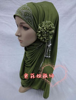 Wholesale H118 lastest muslim flower hijab fast delivery mixed colors