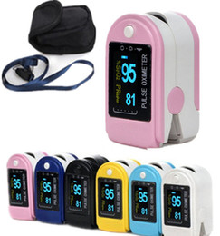 Wholesale Finger Pluse Oximeter Blood Oxygen monitor CMS50D Pluse Oximeter SPO2 Monitor CE amp FDA Approved