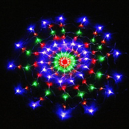 2017 rgb led net 110V / 220V coloré RGB LED Net Light 120 conduit filet filet Noël Party Mariage Spider lumière net éclairage GHJC286 rgb led net offres