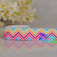 Wholesale 10yards quot mm colorful stripe chevron printed gift ribbon chevron wave DIY gift ribbon