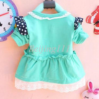 Girl Spring / Autumn Children Super Fashion Trend Dark Blue Bowtie Decoration Baby Girls' Outerwear Chest Floral Lace Rim Princess Coat Children Cardigan