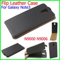 Leather For Samsung For Christmas Genuine Original Leather Flip Case Cover For Samsung Galaxy Note 3 N9000 N9006 Note3 Note III phone Pouch Free shipping