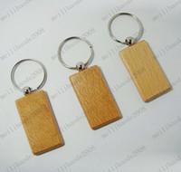 Wholesale Rectangle Blank Wooden Key Chains Promotion Carving Keyrings MYY6458