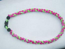 "baseball 3 ropes tornado sports titanium necklace braided necklace 18""-20""-22"""