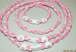 Ruban rose sein à vendre-BCPR Tornado collier de titane de sport avec Échec au Ruban rose pour le cancer du sein Collier Healty