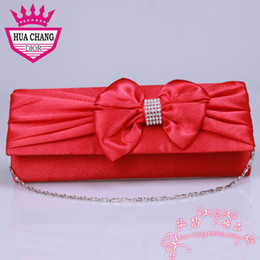 Wholesale Attractive High quality Hot selling Wedding Accessories White Red Party Prom Hand Bags Wedding Bridal Hand Bags