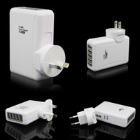 Direct Chargers   New Arrival 5 Ports USB Home Travel Wall Charger AC Power Adapter For Sony HTC Mobile PDA Camera Mp3 Player Retail Package New Free Shipping