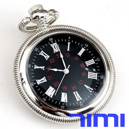 Wholesale 2013 freeship fashion hot sell New Silver Railroad Pocket Watch Fob Chains Quartz for pack sell