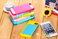 Plastic For Apple iPhone  Hybrid Colorful PC &T PU 3 in 1 NX Case for iphone 4 4S 5 5S 5C wih Credit Card Slot Detachable plastic Shell Case Cover with Retail Package