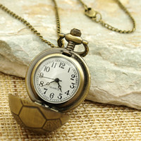 Wholesale Antique Brass Ball Necklace Pendant Clock Metal Watch Fashion Jewelry