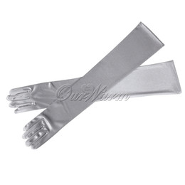 Wholesale 22 quot Long Satin Stretch Gloves Above Elbow Bridal Prom Wedding Formal