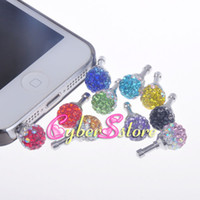 Wholesale Diamond Rhinestone Bling mm Dust Plug Earphone Plug For Iphone amp Ipad amp Samsung amp HTC Cellphone