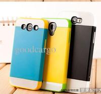 For Samsung Plastic  NX PC TPU Card slot Detachable plastic Hard Case Cover Revolution Protective Cases for Samsung Galaxy S4 S3 S2 Note 2 i9260 Mega 9098 i8750