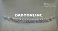Al por mayor - 2013 Cristales Nueva Moda real caliente Glamorous Rhinestone arco de la cinta Cinturón nupcial Sew Sashes vestidos de novia de la mujer accesorios