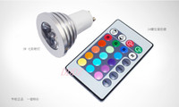 Wholesale X Energy Saving W E27 GU10 MR16 RGB E14 LED Bulb Lamp light Color changing IR Remote