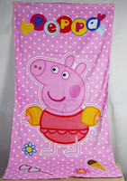 Wholesale Kids Cartoon Blankets Peppa Pig Brand New Baby Children Polar Fleece Autumn Winter Size x65cm Christmas New Year Gifts