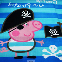 Wholesale Kids Cartoon Blankets Peppa Pig George Pig Pirates Baby Children Polar Fleece Autumn Winter Size x65cm bedspread bed sheet